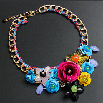 Chunky Statement Flower Necklace