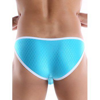 Edging Fish Scale Metal Hoop String  Briefs - L L