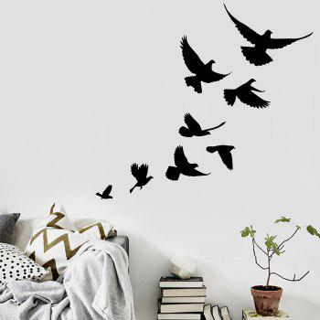 Vinyl Bevy Birds Home Decor Wall Sticker - BLACK BLACK