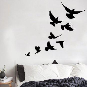 Vinyl Bevy Birds Home Decor Wall Sticker - BLACK 57*52CM