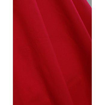Sleeveless A Line Plus Size Vintage Dress - RED RED