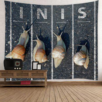 Snail Running Wall Hanging Tapestry - GRAY GRAY