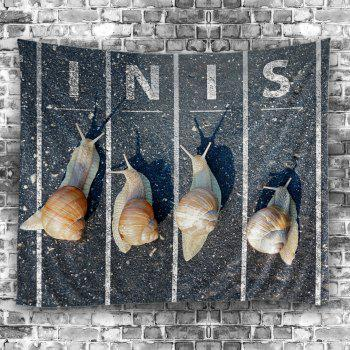 Snail Running Wall Hanging Tapestry - GRAY W59 INCH * L51 INCH