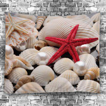 Pearl Starfish Sea Shell Print Wall Tapestry - COLORFUL W59 INCH * L51 INCH