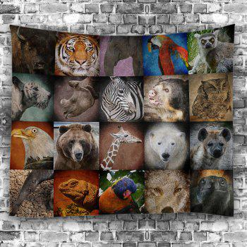 Animals Print Wall Art Tapestry - COLORFUL W59 INCH * L59 INCH