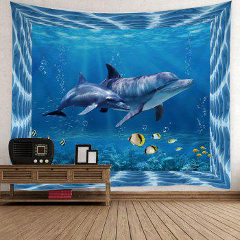 Home Decor Fish Dolphin Ocean Print Wall Tapestry