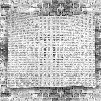 Pi Symbol Number Print Wall Hanging Tapestry - GRAY W59 INCH * L59 INCH