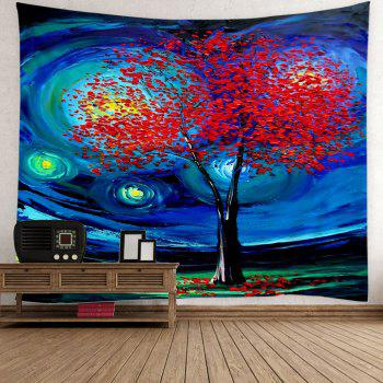 Oil Painting Life of Tree Space Wall Art Tapestry