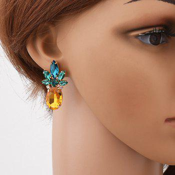 Faux Crystal Pineapple Shaped Earrings - YELLOW