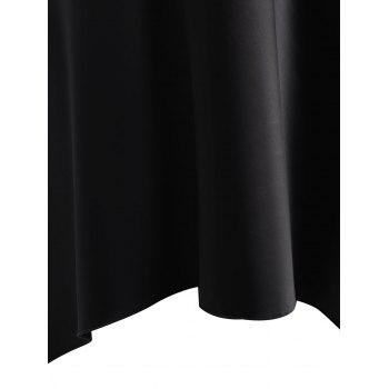 High Low Crossback Satin Slip - BLACK XL