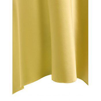 High Low Crossback Satin Slip - YELLOW YELLOW