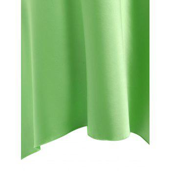 High Low Crossback Satin Slip - GRASS GREEN GRASS GREEN