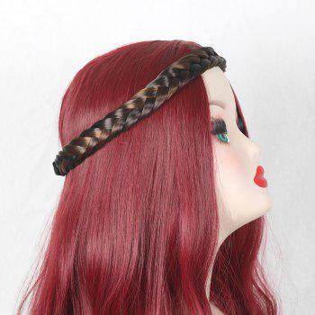 Braids Headband Hair Extension - BLACK AND BROWN BLACK/BROWN