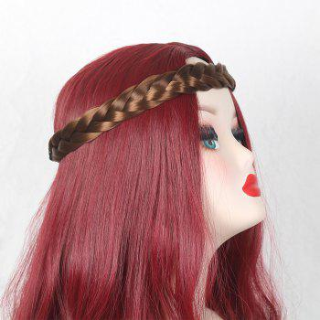 Two Plait Braided Headband Hair Piece - GOLD BROWN GOLD BROWN