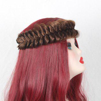 Large Plaited Headband Hair Extension - LIGHT BROWN LIGHT BROWN