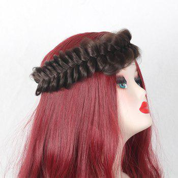 Large Plaited Headband Hair Extension - BROWN BROWN