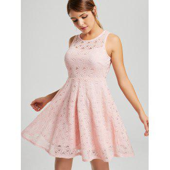 Sleeveless Lace Mini Cocktail Dress - 2XL 2XL