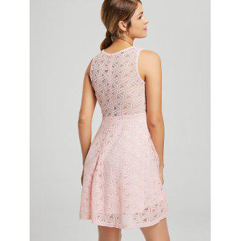 Sleeveless Lace Mini Cocktail Dress - S S