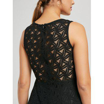 Sleeveless Lace Mini Cocktail Dress - L L
