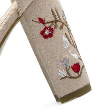 Embroidey High Heel Sandals - APRICOT APRICOT