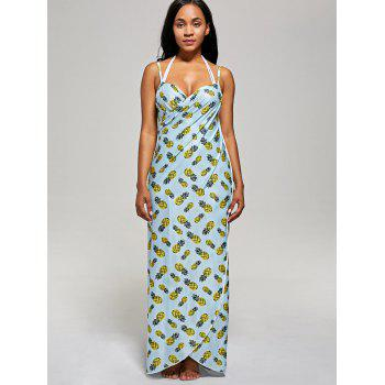 Pineapple Wrap Cami Cover Up Dress - M M