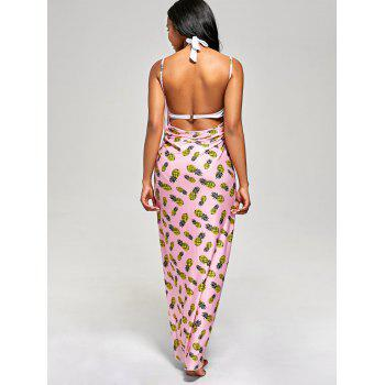 Pineapple Wrap Cami Cover Up Dress - XL XL