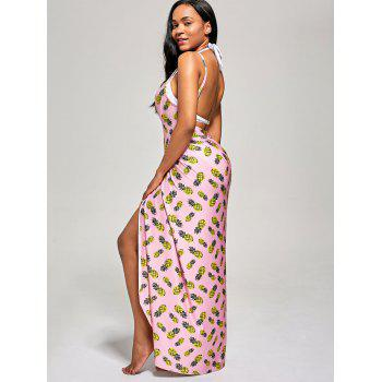 Pineapple Wrap Cami Cover Up Dress - S S