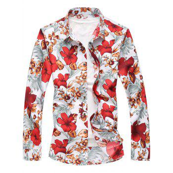 Floral Printed Button Up Long Sleeve Shirt