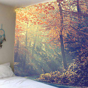 Forest Maple Tree Leaves Wall Art Tapestry - COLORFUL COLORFUL
