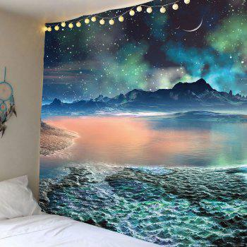 Moon Star Lake Mountain Wall Art Tapestry