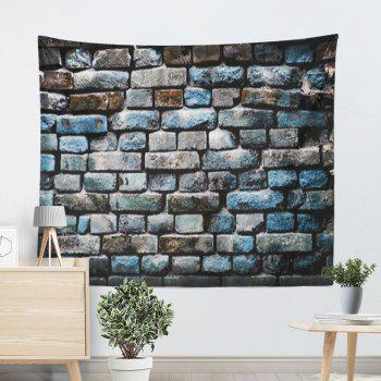 Brick Wall Hanging Vintage Tapestry - COLORMIX W91 INCH * L71 INCH