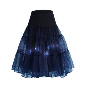 Flounce Light Up Cosplay Skirt - CERULEAN CERULEAN