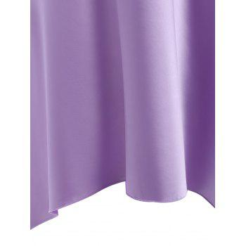 High Low Crossback Satin Slip - LIGHT PURPLE LIGHT PURPLE