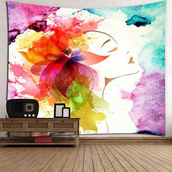 Oil Painting Floral Wall Hanging Tapestry - COLORFUL W79 INCH * L59 INCH