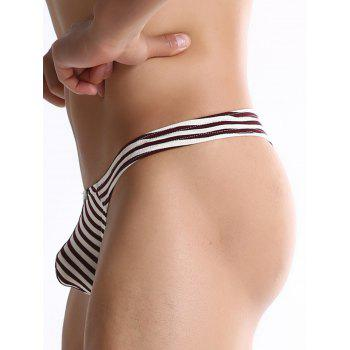 U Container Pouch Striped Thongs - Rouge vineux M