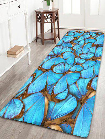 цена на Flannel Skidproof Bath Rug with Butterfly Print