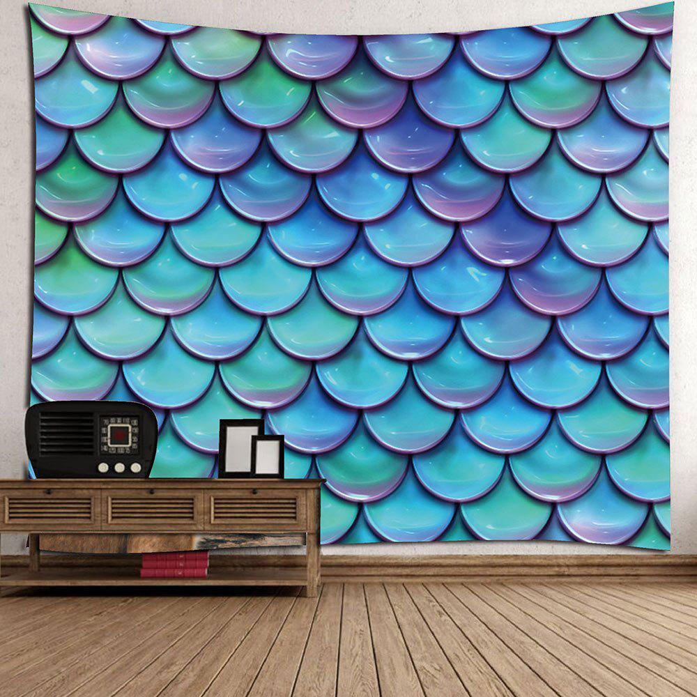 2018 home decor mermaid fish scales wall tapestry light for Best fish scale