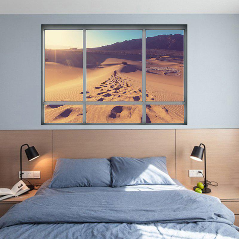 3D Desert Landscape Removable Vinyl Wall Sticker vinyl removable 3d love broken wall sticker
