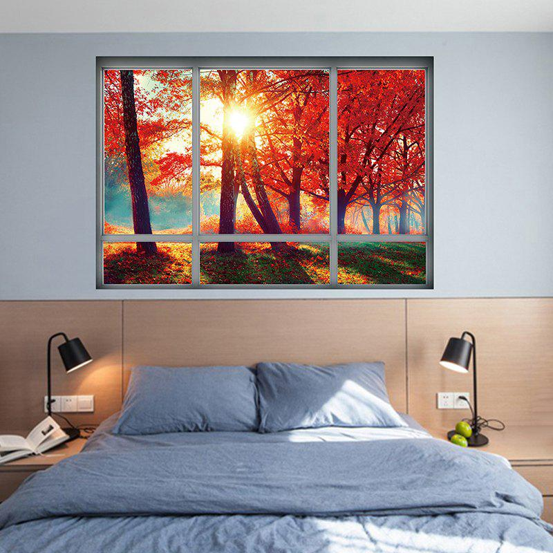 Autumn Scenery Home Decoration 3D Wall Sticker lovely dinosaur pattern removeable 3d floor wall sticker home decoration