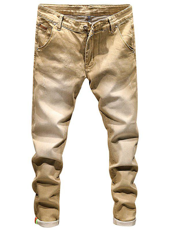 Ripped Zip Fly Skinny Cuffed Jeans полотенца philippus полотенце laura 50х90 см 6 шт