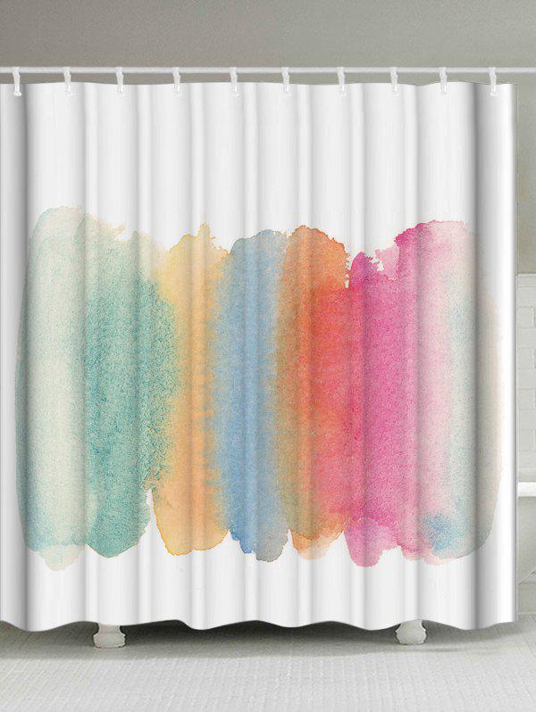 Mildew Resistant Watercolor Shower Curtain beach mildew resistant waterproof shower curtain