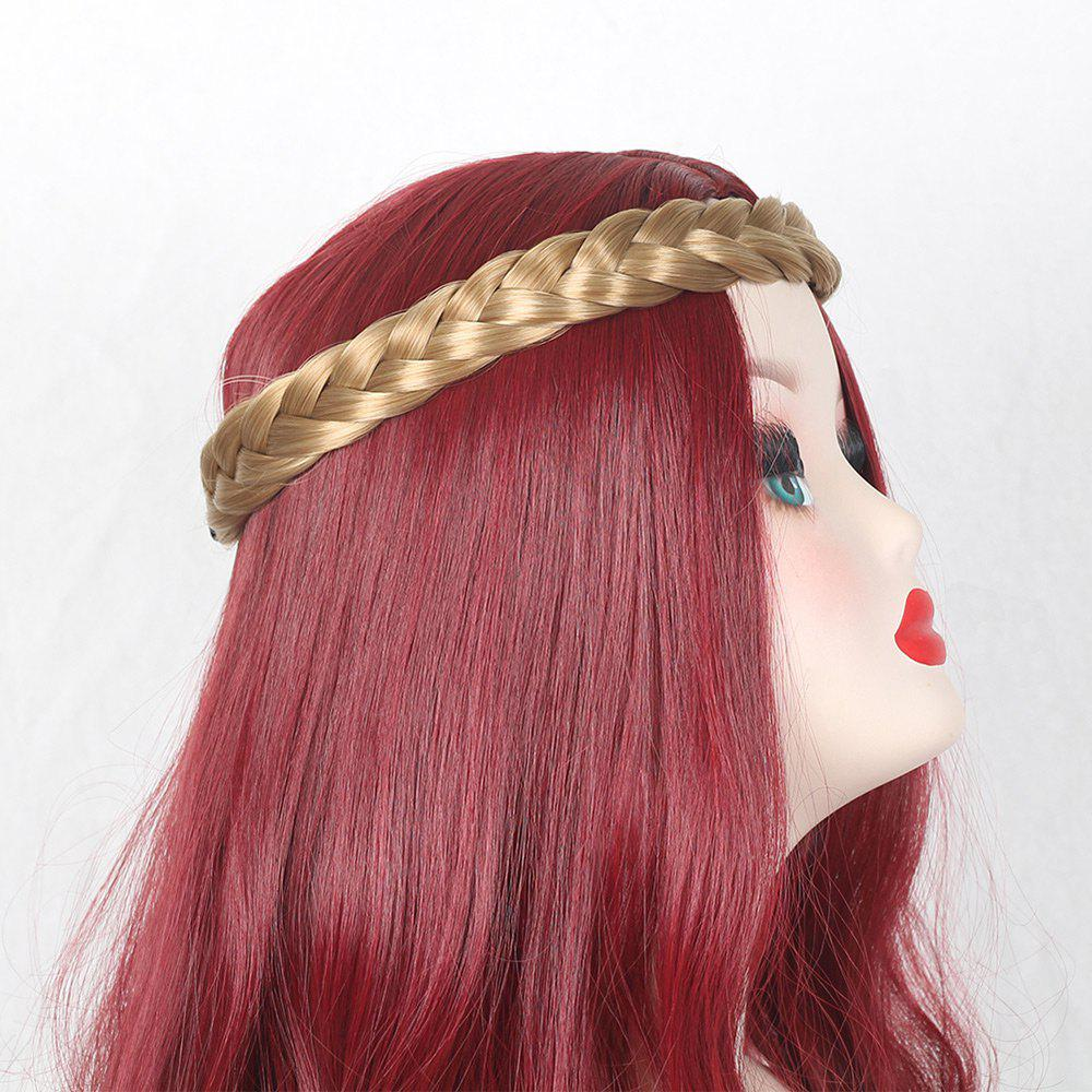 Two Plait Braided Headband Hair Piece - BROWN/GOLDEN