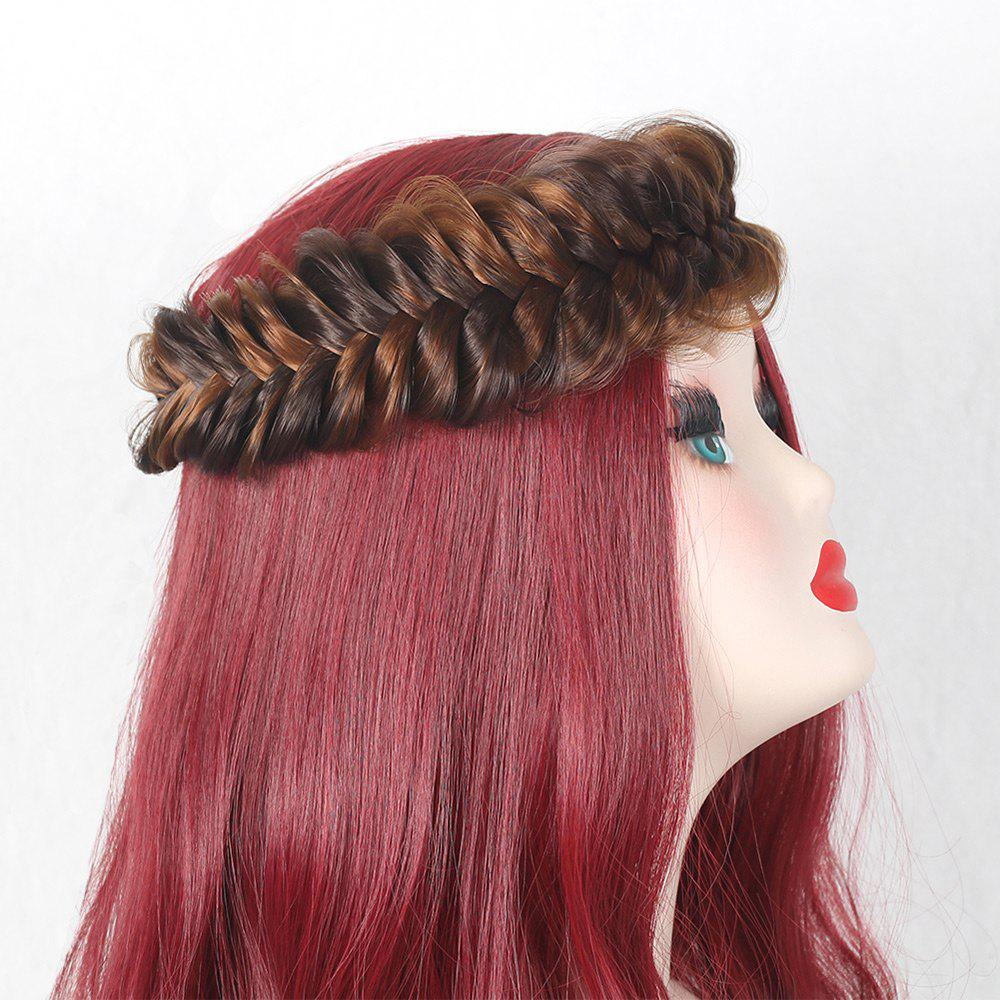 Colormix Large Plaited Headband - GOLD BROWN