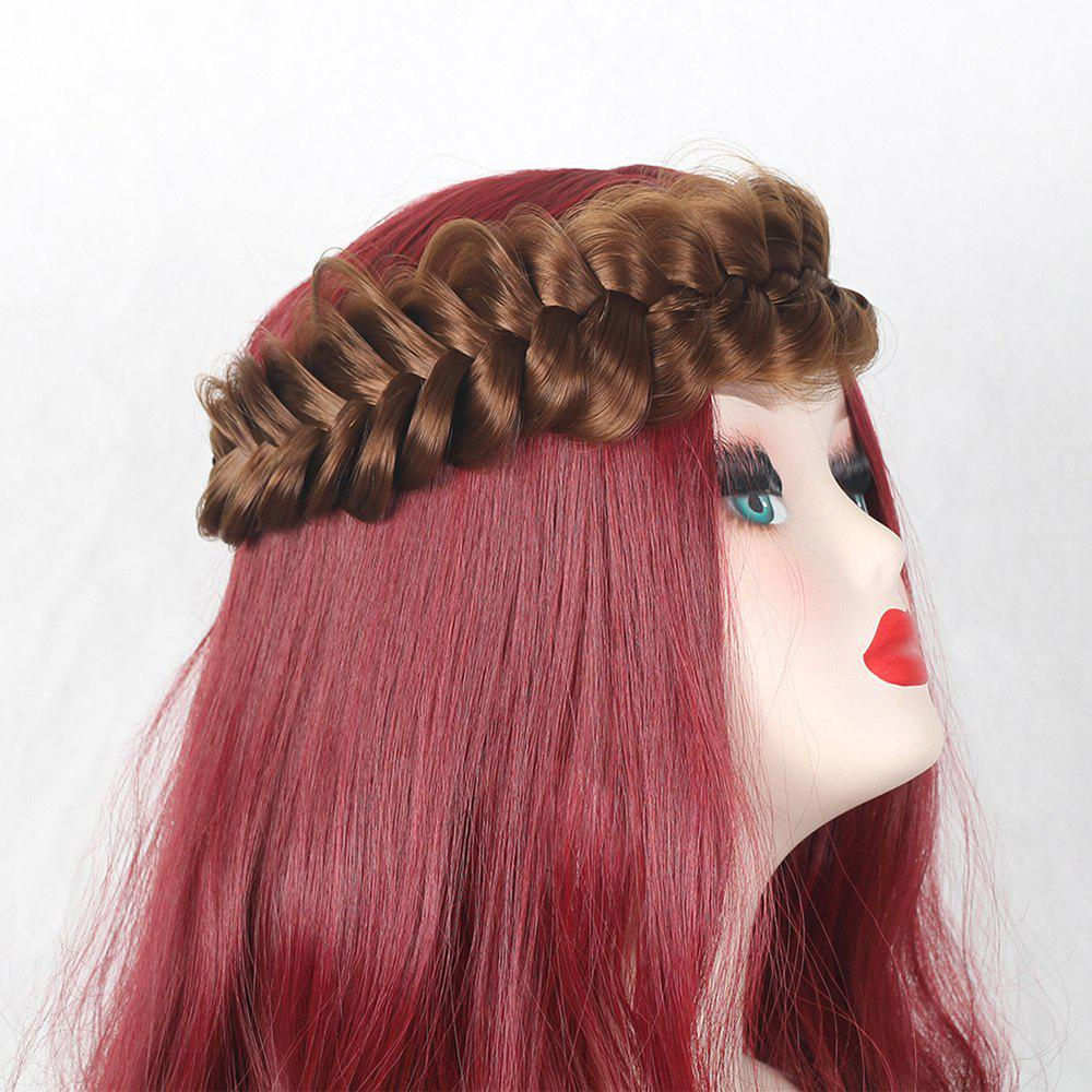 Large Plaited Headband Hair Extension - GOLD BROWN