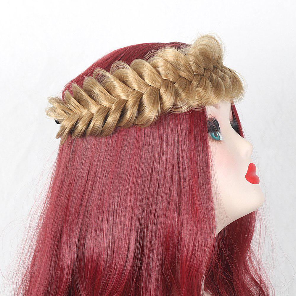 Large Plaited Headband Hair Extension - LIGHT GOLD