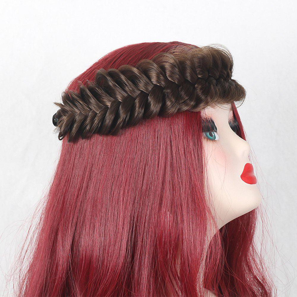 Large Plaited Headband Hair Extension - DEEP BROWN