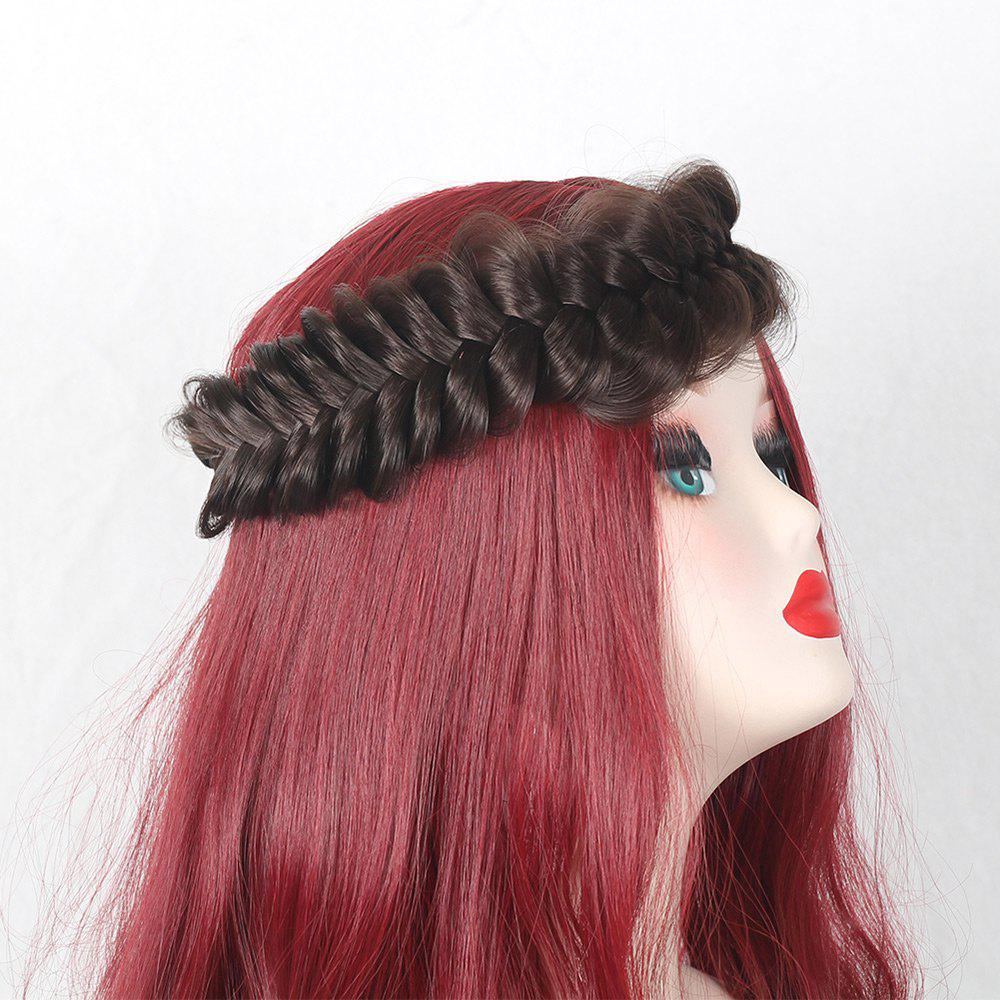 Large Plaited Headband Hair Extension - BROWN