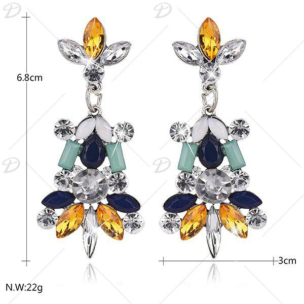 Rhinestone Faux Crystal Statement Earrings - COLORMIX