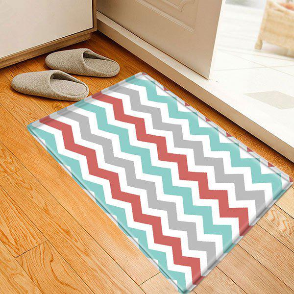 Zig-zag Pattern Indoor Outdoor Area Rug - COLORMIX W20 INCH * L31.5 INCH