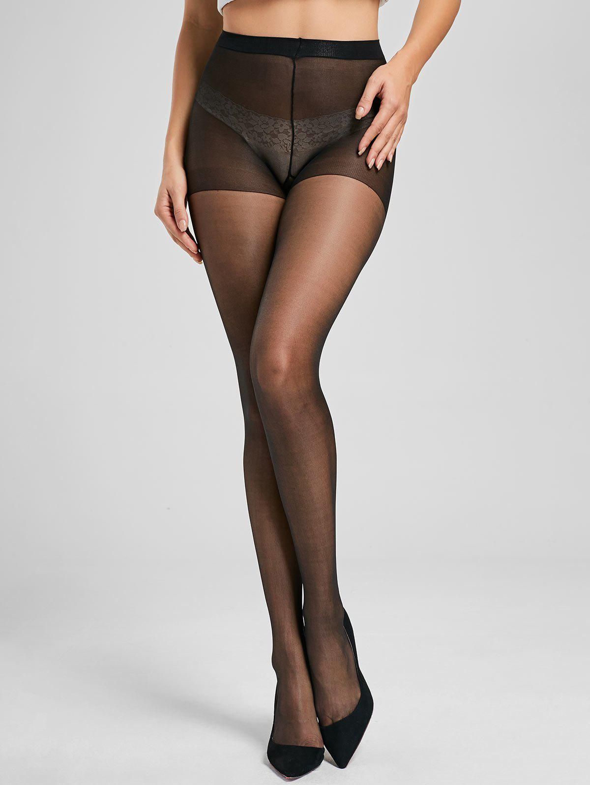 Slimming See Through Pantyhose - BLACK ONE SIZE